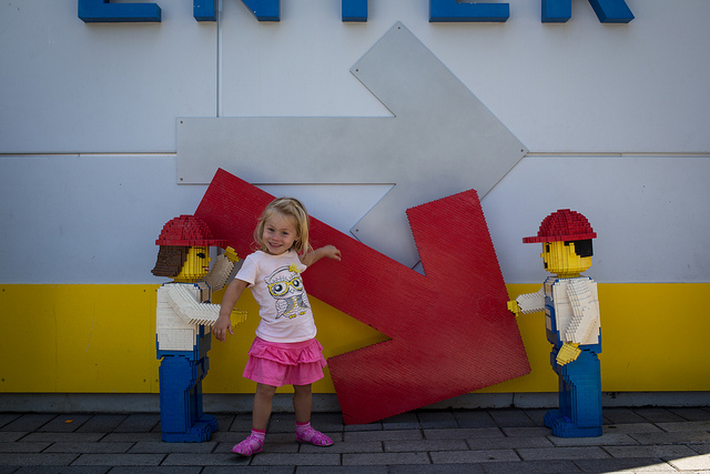 girl playing with LEGO stuff