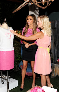 Giuliana and Jennie Garth at the launch of Live in Pink for LOFT