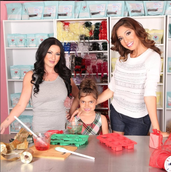 Teen Mom's Farrah Abraham and daughter Sophia with their company Beauty Kitchen Junkie