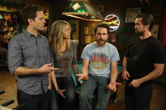 Charlie Day, Rob McElhenney, Kaitlin Olson, and Glenn Howerton in 'It's Always Sunny in Philadelphia'