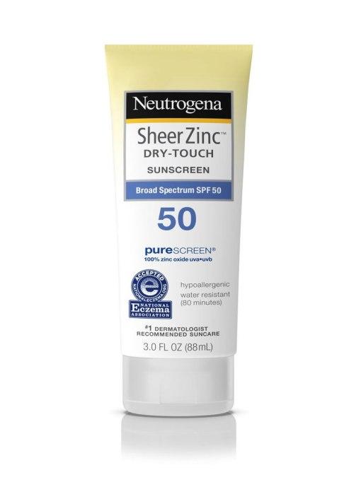 Neutrogena Sheer Zinc Dry-Touch Sunscreen Broad Spectrum SPF 50