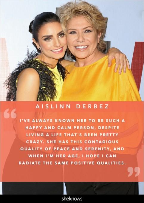 Aislinn Derbez and her mom