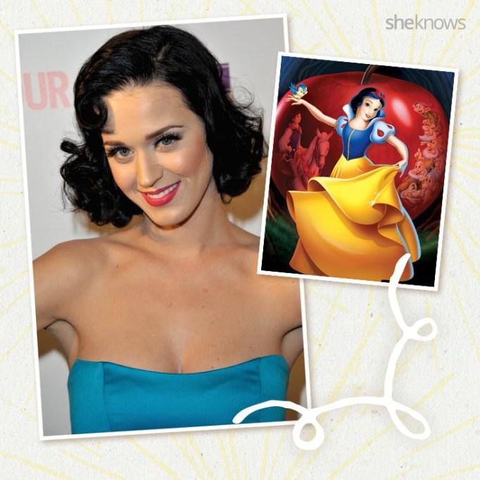 Katy Perry as Disney princess Snow White