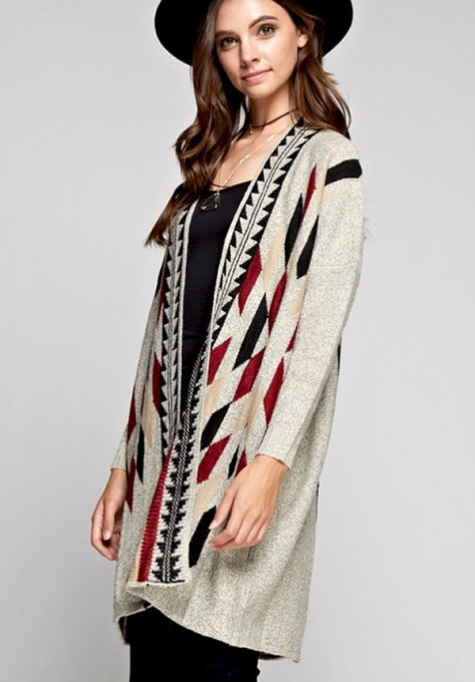 Cozy Sweaters For Under $100: Tribal Cardigan | Fall Fashion 2017