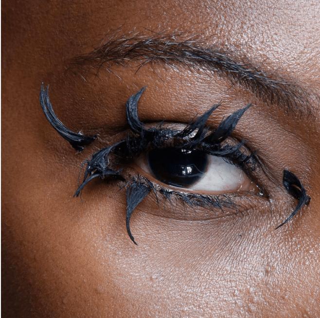 Vivienne Westwood clumpy eyelashes