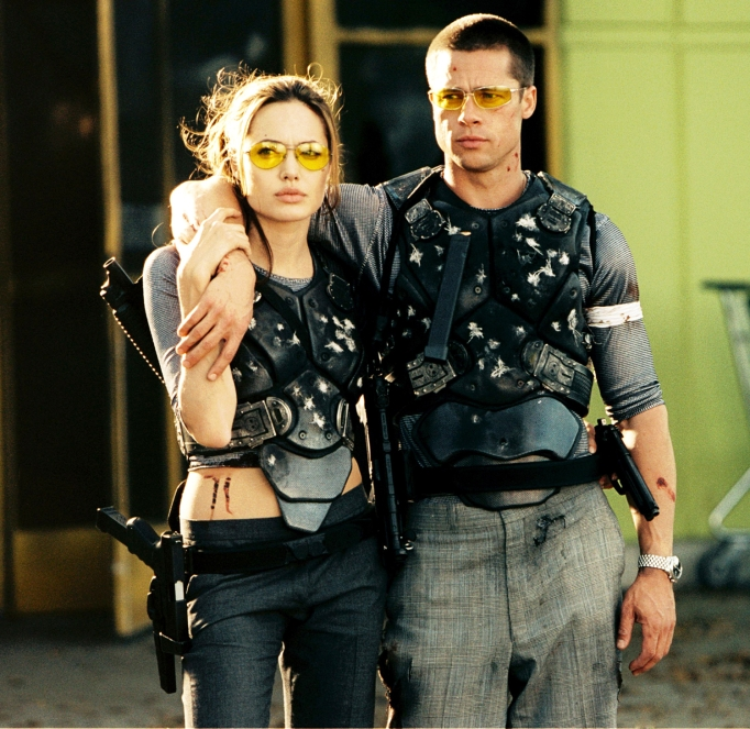 Angelina Jolie and Brad Pitt in 'Mr. & Mrs. Smith'