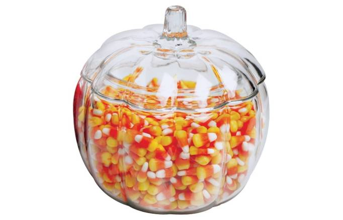 The 15 Best Target Halloween Decorations Under $20 | This glass pumpkin can be used all seaosn long.