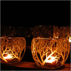 Hand engraved glass candle holders | Sheknows.ca