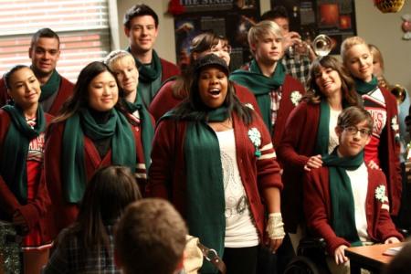 Glee celebrates Christmas
