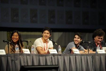 Glee cast at Comic-Con