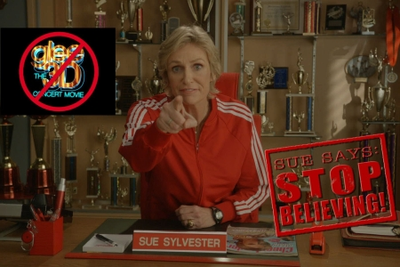 Glee's Sue Sylvester asks you to Stop Believing