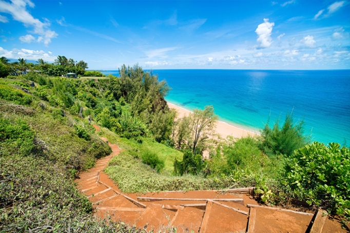 "Will Smith's Hawaiian mansion has access to the gorgeous ""Secret Beach"""