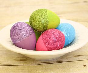 glitter easter eggs craft