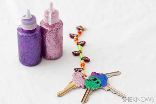 Glitter keyes