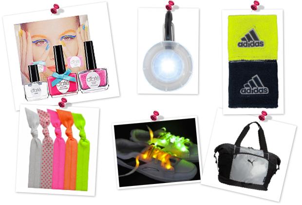 Glow-in-the-dark fitness gear -- accessories