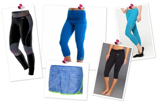 Glow-in-the-dark fitness gear -- bottoms