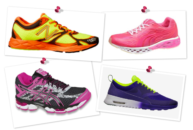 Glow-in-the-dark fitness gear -- shoes