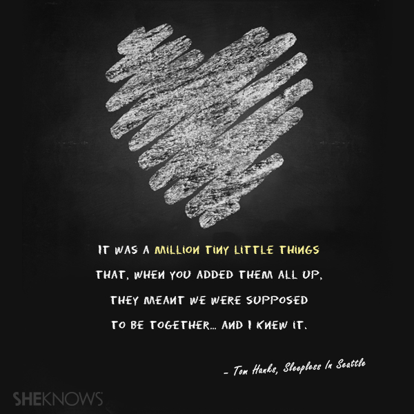 'Sleepless In Seattle' love quote