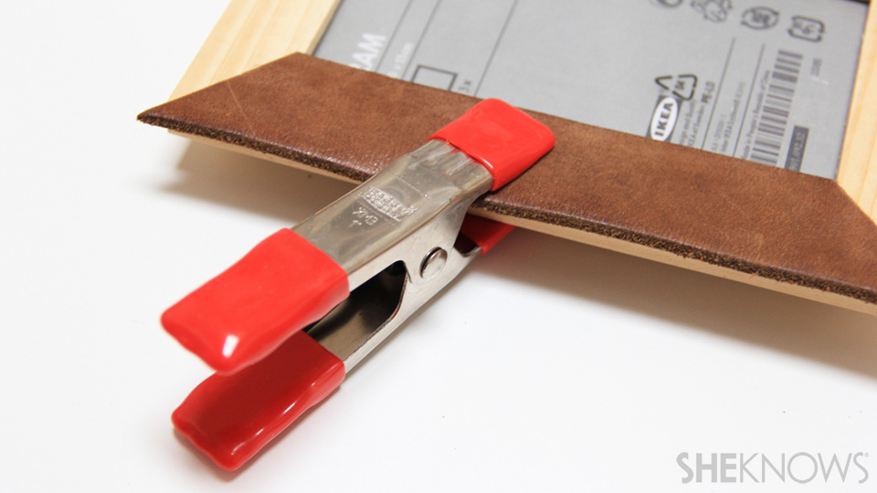 DIY leather belt picture frame for Father's Day