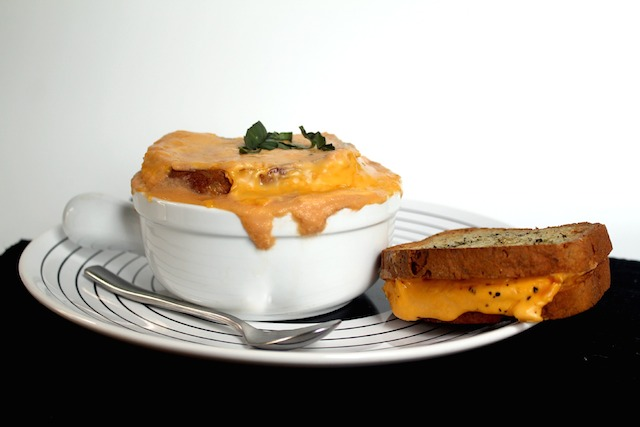 grilled cheese soup