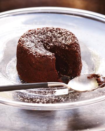 Sinful gluten-free molten chocolate cake