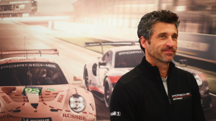 Patrick Dempsey attends a Porsche media