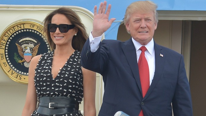 Did Melania Really Swat Donald Trump's