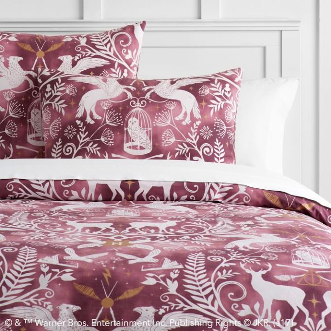 PB Teen Harry Potter Collection: Dress up your bed with this damask duvet cover