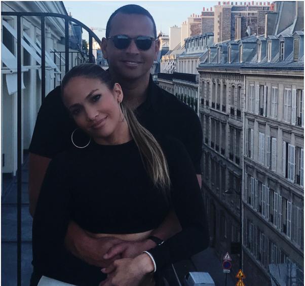 Jennifer Lopez and Alex Rodriguez in France.