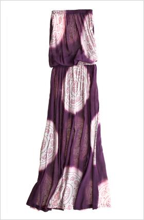 strapless drop waist maxi dress