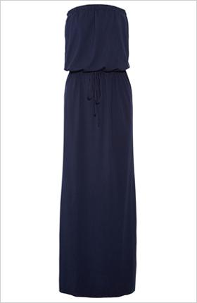 cotton blend jersey maxi dress