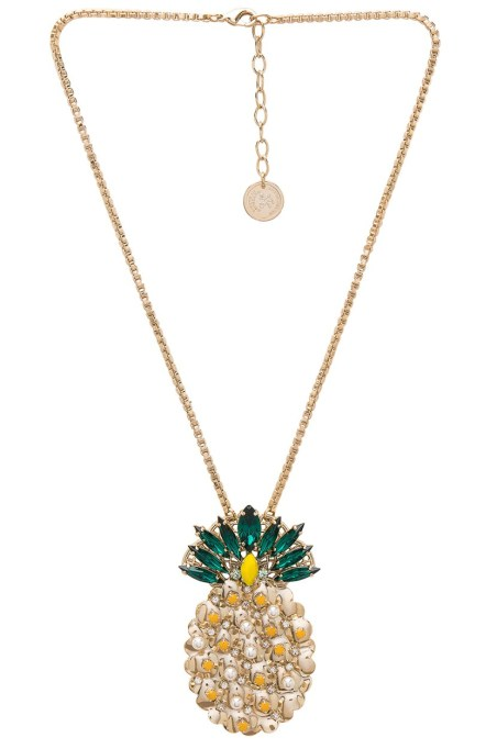 Pendant Necklaces to Stock Up On Now: Anton Heunis Pineapple Pendant Necklace | Summer Style 2017