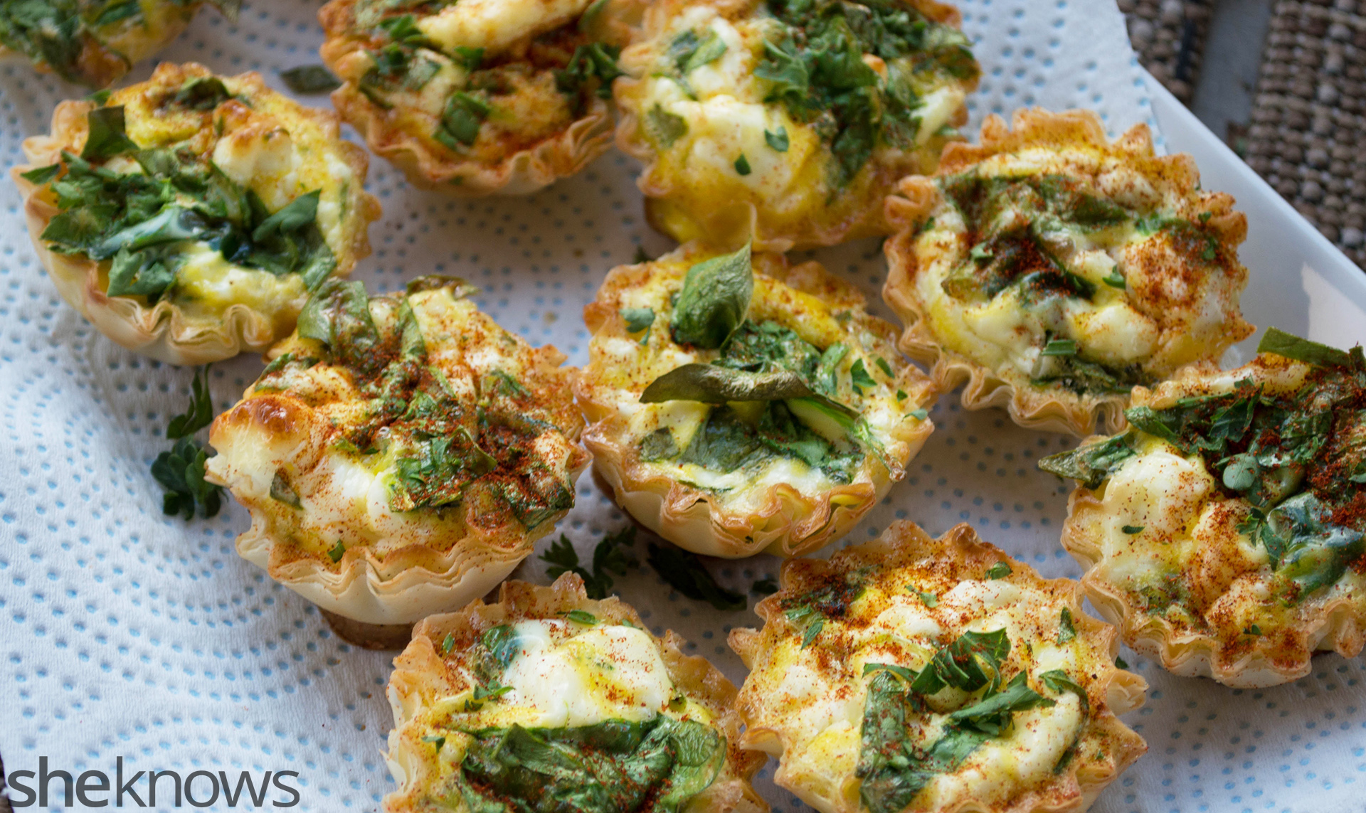 goat cheese phyllo cups
