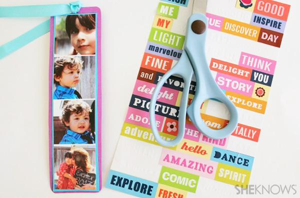 DIY photo strip bookmark craft for