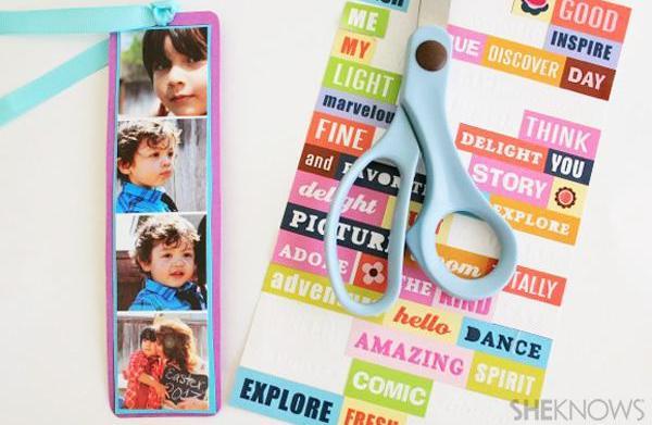 DIY photo strip bookmark craft for