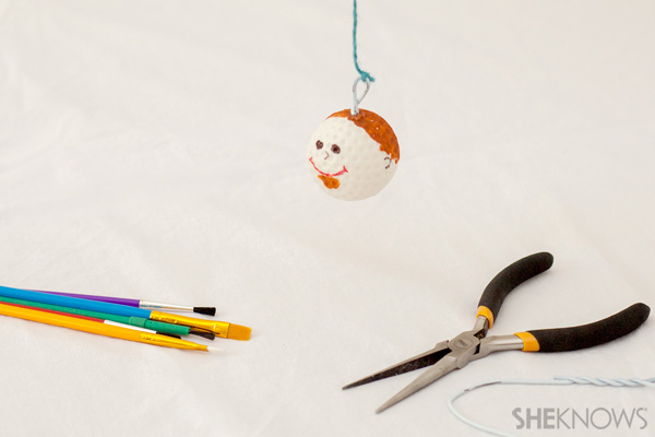 Golf ball ornament - Father's Day craft