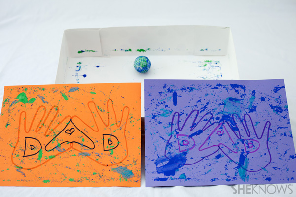 Golf ball paint craft - Father's Day crafts