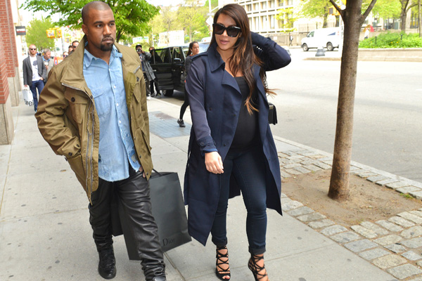 1. Kim Kardashian and Kanye West