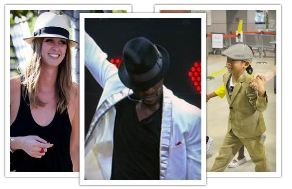 Nicky Hilton, Usher, Pax wearing Goorin Bros. Hats
