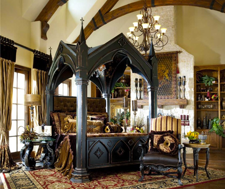 Gothic canopy bed