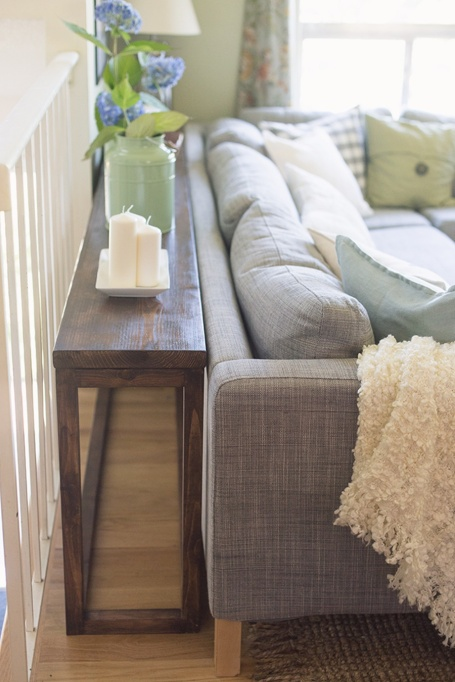 How to Decorate Small Spaces: Make the most of normally wasted spaces by utlizing console tables.