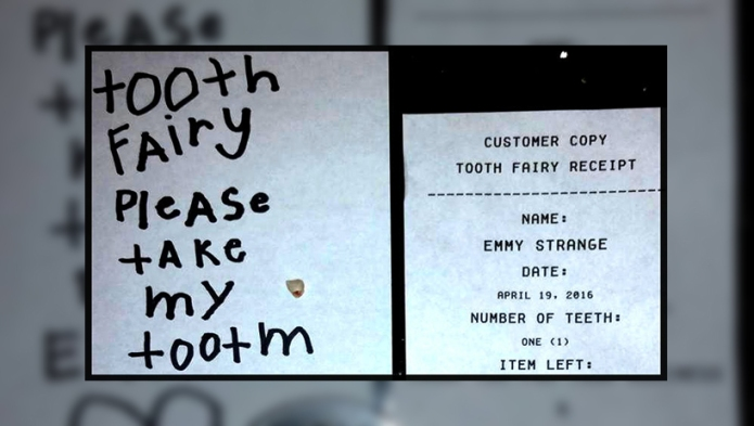 This tooth fairy made up big