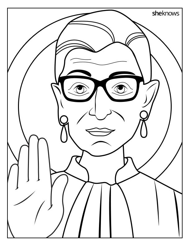 Printable Ruth Bader Ginsburg Coloring Book – SheKnows