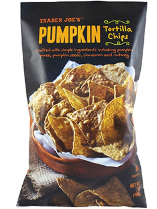 Trader Joe's Game Day Snacks: Pumpkin Tortilla Chips