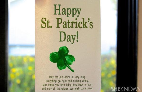 Fingerprint art for St. Patrick's Day