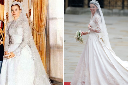 Grace Kelly Wedding Dress.Well Hello There Princess Grace Er Kate Sheknows