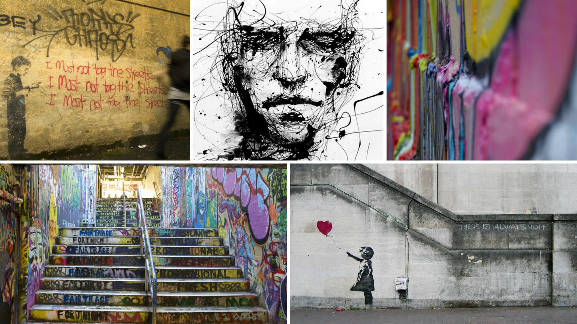 Graffiti art you could actually hang indoors