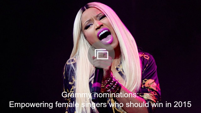 Empowering female Grammys nominees 2015