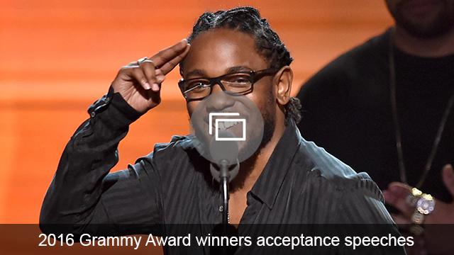 Grammys 2016 acceptance speeches slideshow
