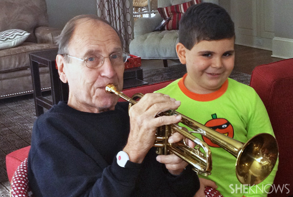 Ethan Walmark with Grandpa